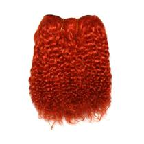 "Orange rust bebe curl  tight curl  mohair weft coarse  6-8""x200"" 26000 FP"