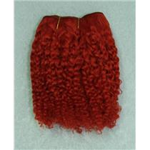 "Orange rust bebe curl - tight curl  mohair weft coarse 6-8""x100"" 26001 HP"