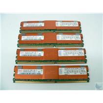 LOT OF 4 SERVER RAM - Hynix 2GB 2Rx4 ECC PC2-5300F-555-11 HYMP525F72CP4D3-Y5
