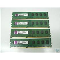 Lot of 4 Kingston 2GB 2xR8 PC3-10600U-9-10-B0 KP223C-ELD Memory Sticks