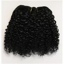 "Black #1 bebe curl - tight curl - mohair weft coarse  6-8"" x200""  26299 FP"