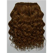 "Brown 12 curly mohair weft coarse 6-8"" x100"" 25802 HP"