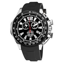 August Steiner AS8003BK Chronograph Date Tachymeter Black Strap Mens Watch
