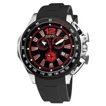 August Steiner AS8003R Chronograph Date Tachymeter Black Strap Mens Watch