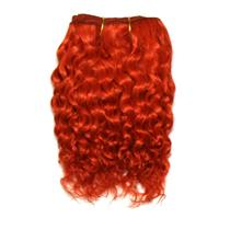 "Orange rust  mohair weft coarse curly weft 7-9"" x 50"" 20-25 g 25999 QP"