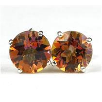 SE112, Twilight Fire Topaz 925 Sterling Silver Earrings
