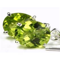 SE003, Peridot, 925 Sterling Silver Threader Earrings