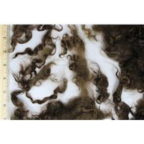 "medium neutral brown fine adult mohair 1-4"" shorts 26111"