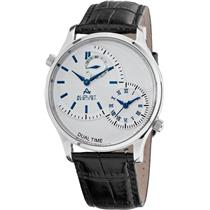August Steiner AS8010BU Dual Time Seconds Subdial Blue Accented Mens Watch