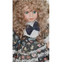 "spring honey fine curly angora goat mohair doll hair 1 oz 3-6"" 26158"