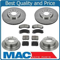 00-04  Montero Sport (2) 12 3/8 Inch Front & Rear Brake Rotors & Ceramic Pads