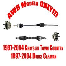 Front Axles and Wheel Hubs for Chrysler Town Country & Dodge Caravan AWD 07-04