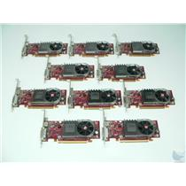 Lot of 10 ATI Radeon HD3450 0X398D 256MB PCI-e Full Size DMS-59 Video Cards