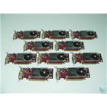 Lot of 10 ATI Radeon HD2400XT 102B2760201 Low Profile DMS-59 PCI-e Video Card