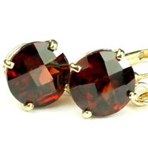 E117, Mozambique Garnet, 14k Gold Earrings