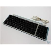 Vintage Apple USB Wired Keyboard Bondi Blue M2452 with USB Ports