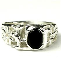 SR197, Black Onyx, 925 Sterling Silver Ring