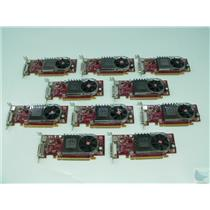 Lot of 10 ATI Radeon HD3450 0Y103D 256MB DMS-59 Low Profile PCI-e Video Cards