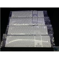 Lot of 4 Genuine Apple A1243 Ultra Thin Aluminum Keyboard with USB Ports