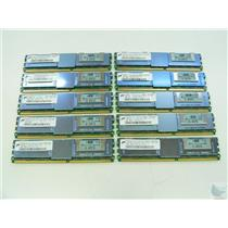 Lot of 10 Micron 4GB 2Rx4 ECC PC2-5300F-555-11-E1 MT36HTF51272FY-667E1D4 Memory