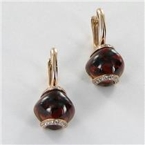 Bellarri Earrings Visions 0.27cts Diamonds 14.7cts Garnets 14k Rose Gold NEW $2290