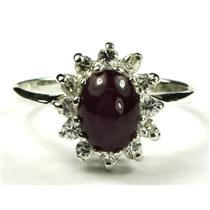 SR235, Black Onyx, 925 Sterling Silver Ladies Cluster Rng