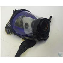 Survivair SCBA Mask Part # 969061 Blue Rubber Face Seal Black Hood Size S