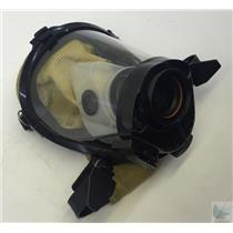 Survivair SCBA Mask Part # 969061 Black Rubber Face Seal Yellow Hood Size M