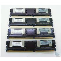 Lot of 4 Nanya 2GB Buffered ECC PC2-5300F-555-11-E2 NT2GT72U4NA1BD-3C Memory