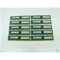 Lot of 10 Samsung 2GB 2Rx8 PC3-10600R-09-10-B0-D2 M393B5673EH1-CH9 ECC Memory