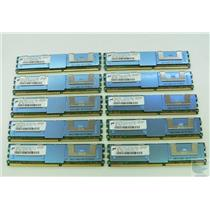 Lot of 10 Micron 2GB 2Rx4 PC2-5300F-555-11-H0 MT36HTF25672FY-667D1D4 ECC Memory