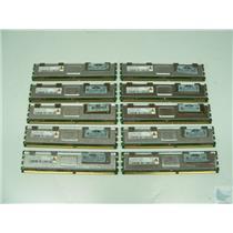 Lot of 10 Qimonda 2Rx4 2GB PC2-5300F-555-11-H0 HYS72T256420EFA-3S-B2 ECC Memory