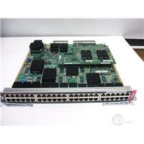 CISCO CATALYST 6500 WS-X6748-GE-TX 48 PORT GE SWITCH MODULE WS-F6700-CFC