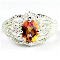 SR365, Twilight Fire Topaz, 925 Sterling Silver Ladies Ring