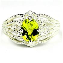 SR365, Peridot, 925 Sterling Silver Ladies Ring