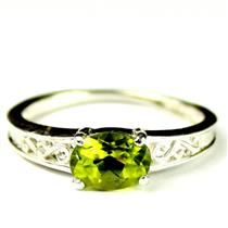 SR362, Peridot, 925 Sterling Silver Ring