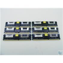 Lot of 6 Nanya 2GB 2Rx4 PC2-5300F-555-11-E2 NT2GT72U4NB1BN-3C ECC Memory