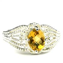 SR365, Citrine, 925 Sterling Silver Ladies Ring