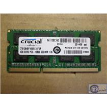 Crucial CT51264BF160B.C16FKR 4GB PC3L-12800S 1600MHz Laptop nonECC Unbuffered