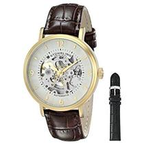 Stuhrling  647.02 SET 647 02 Legacy Automatic Skeleton Leather Mens Watch Set