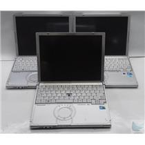 Lot of 3 Panasonic Toughbook CF-T8 Laptop Intel Core 2 Duo 1.6/1.2GHz FOR PARTS