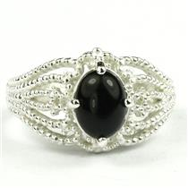 SR365, Black Onyx, 925 Sterling Silver Ring