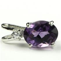 SP021, Amethyst, 925 Sterling Silver Pendant