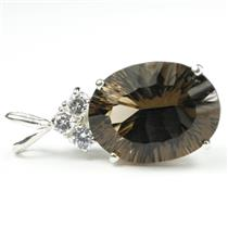 SP016, Smoky Quartz, 925 Sterling Silver Pendant