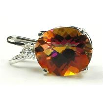 SP020, Twilight Fire Topaz, 925 Sterling Silver Pendant