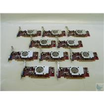 Lot of 10 ATI Radeon HD3470 46R1521 256MB Display Port VGA PCI-e Video Cards