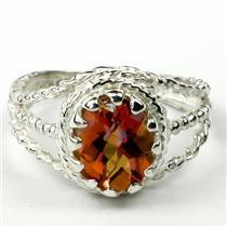 SR070, Twilight Fire Topaz, 925 Sterling Silver Ring