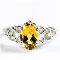 SR302, Citrine, 925 Sterling Silver Ring