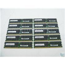 Lot of 10 Samsung 2GB 2Rx4 PC2-3200R-333-10-J3 M393T5750BY3-CCC ECC Memory