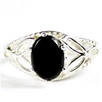 SR137, Black Onyx, 925 Sterling Silver Ring